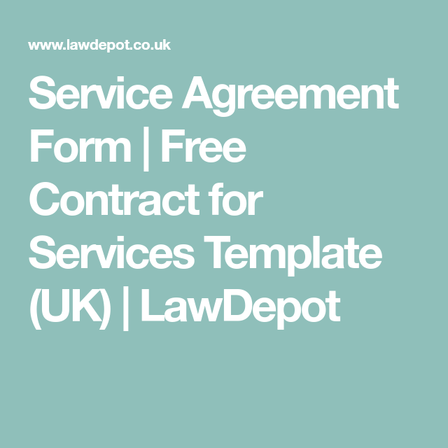 Service Agreement Form  Free Contract For Services Template Uk