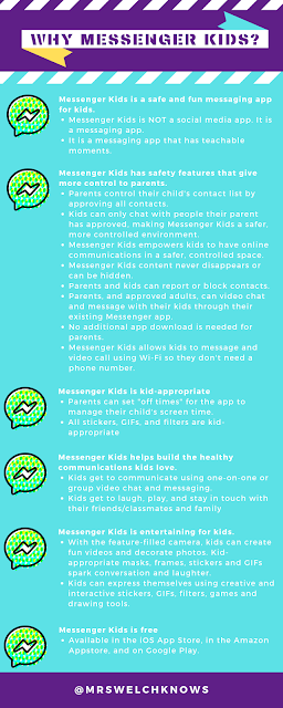 Mrs. Welch Knows Staying Connected with Messenger Kids