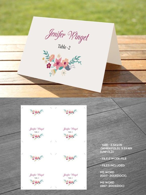 Wedding Place Card Template Place card template, Wedding places - wedding card template
