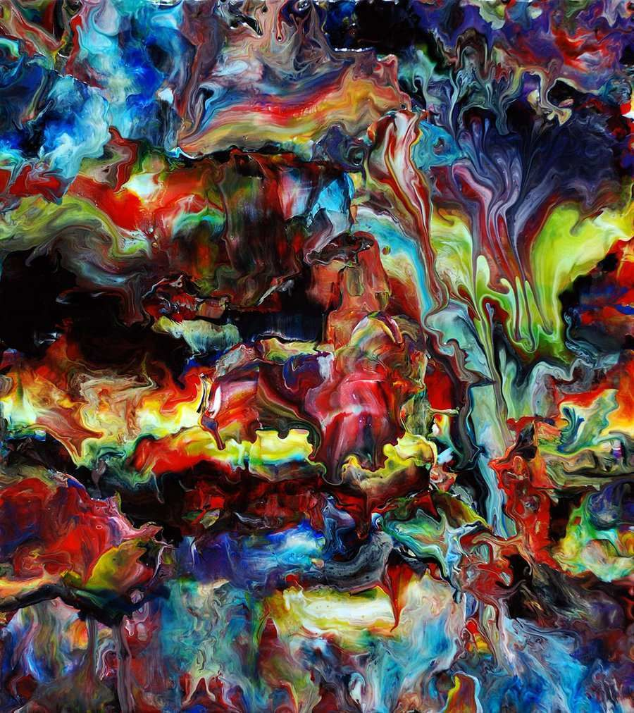 Beautiful acrylic painting abstract abstract painting