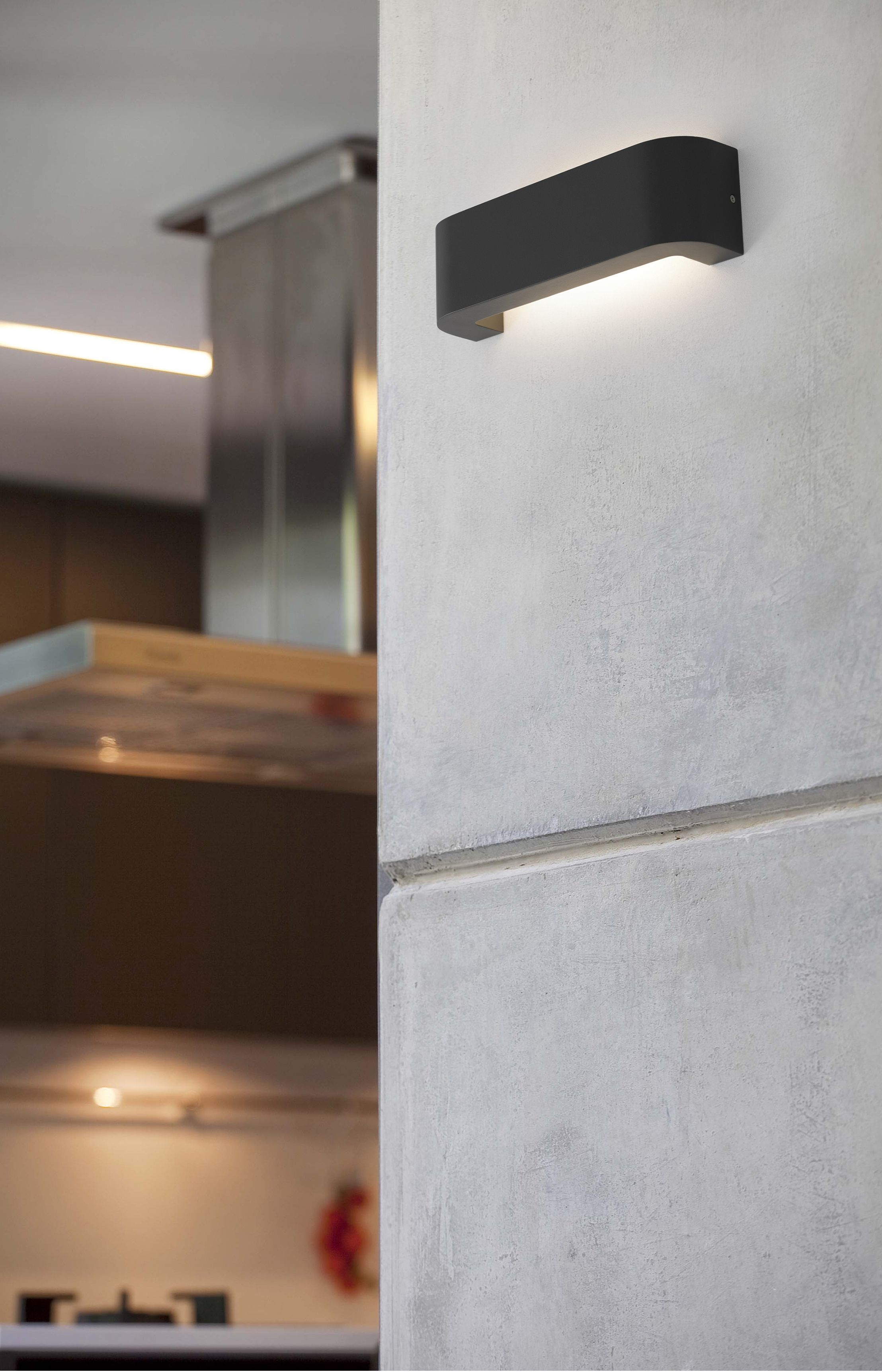 Bracket led this modern wall lamp with upper and lower beam of light bracket led this modern wall lamp with upper and lower beam of light is ideal to aloadofball Gallery