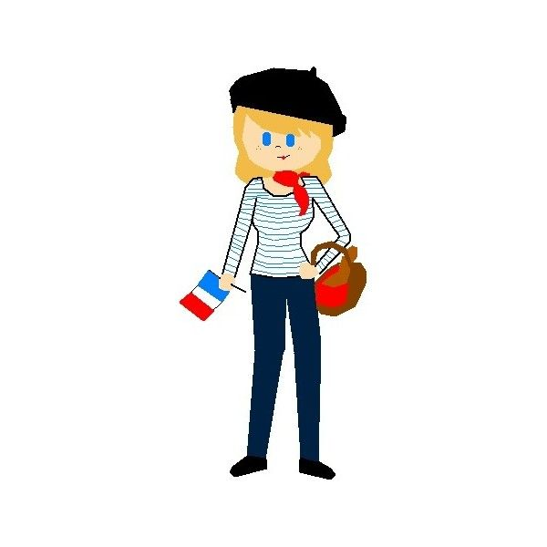 french girl, u can use, beret (drawn by me!) liked on ...