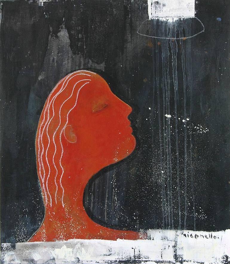 "Saatchi Art Artist Ati Sedgwick; Painting, ""Woman In The Bath"" #art"