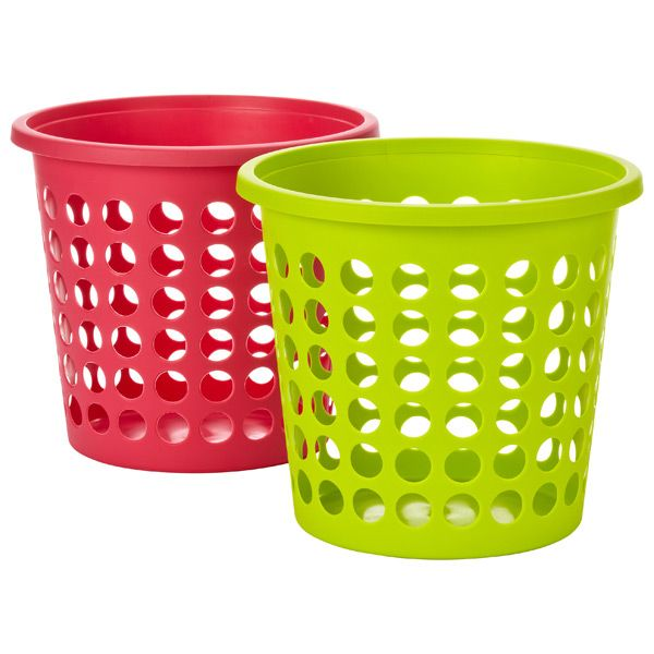 Colorful Stackable Plastic Baskets Plastic Baskets Storage