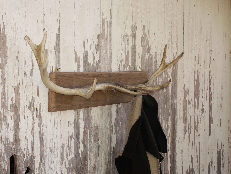 Bronze Finish Deer Antler Coat Rack