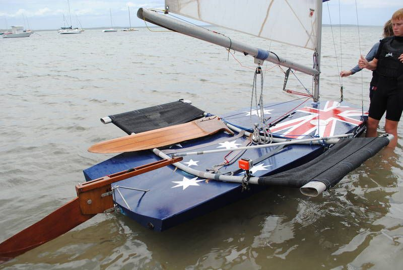 Late 1970s Plywood Moth Dinghy With Wings Aussie Scow For