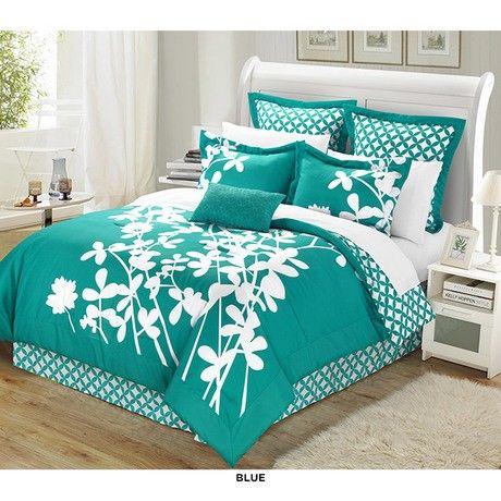 11-Piece Set: Iris Print Reversible Bedding Collection at 67% Savings off Retail!