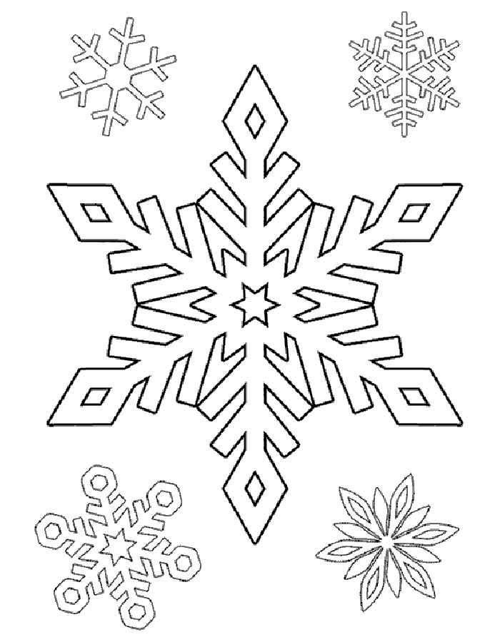 Раскраска снежинка. Распечатать картинки с снежинками ...