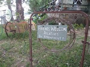 Friends Welcome Relatives by Appointment