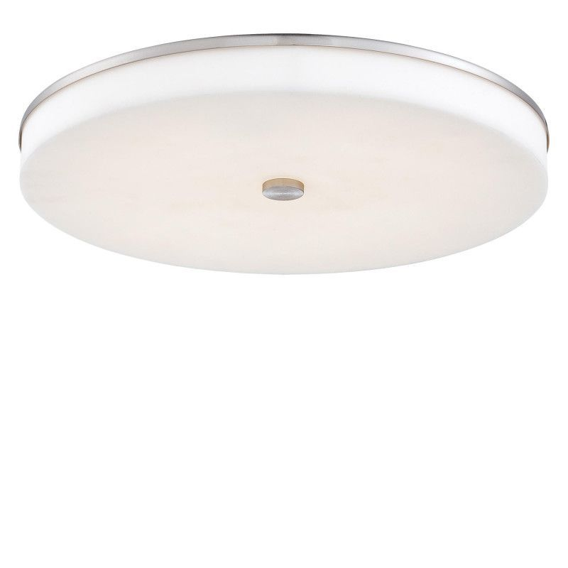Kovacs P950-084-L Brushed Nickel 1 Light 15 Wide LED Flush Mount Ceiling Light Convertible to Wall Sconce from the U.H.O. Collection