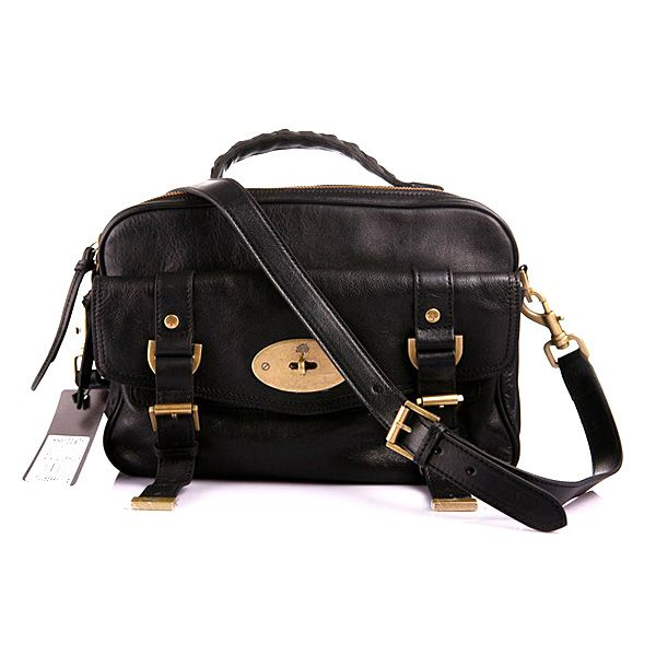Mulberry Women's Postman's Lock Camera Leather Satchel Bag Black ...