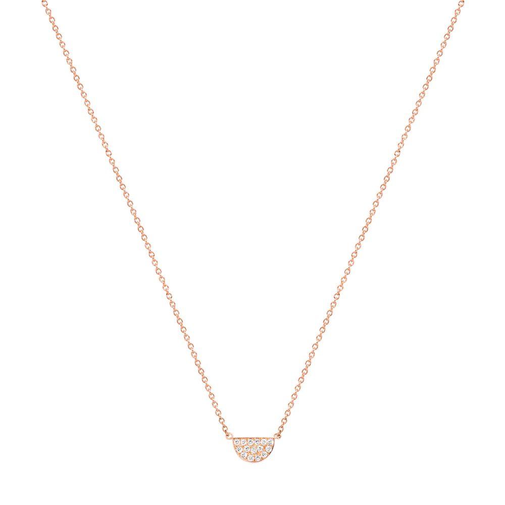 Baby Girl-Half Moon pave diamond necklace | White diamonds, Moon ...