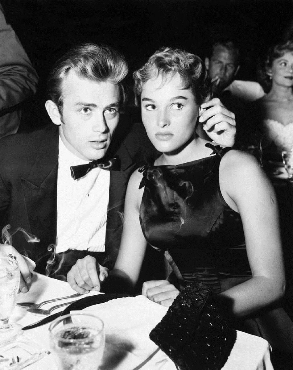 602388086c92 James Dean and Ursula Andress at the nightclub