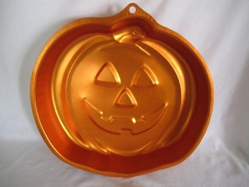 Wilton Orange Cake Pan Jack O Lantern Pumpkin Halloween Shape 21052059 ** Details can be found by clicking on the image. (This is an affiliate link) #cakepans #pumpkinshapedcake