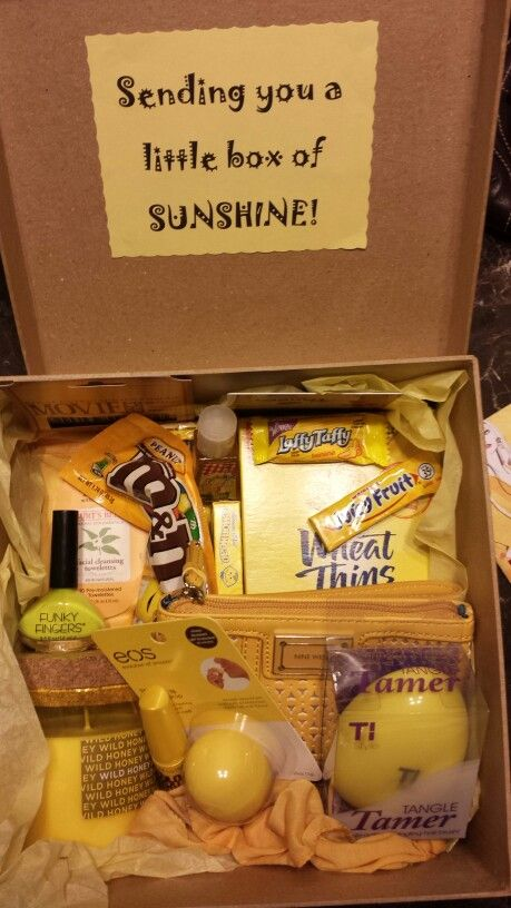 so proud of my best friend gift that i made a little box of sunshine for julie forrest ann