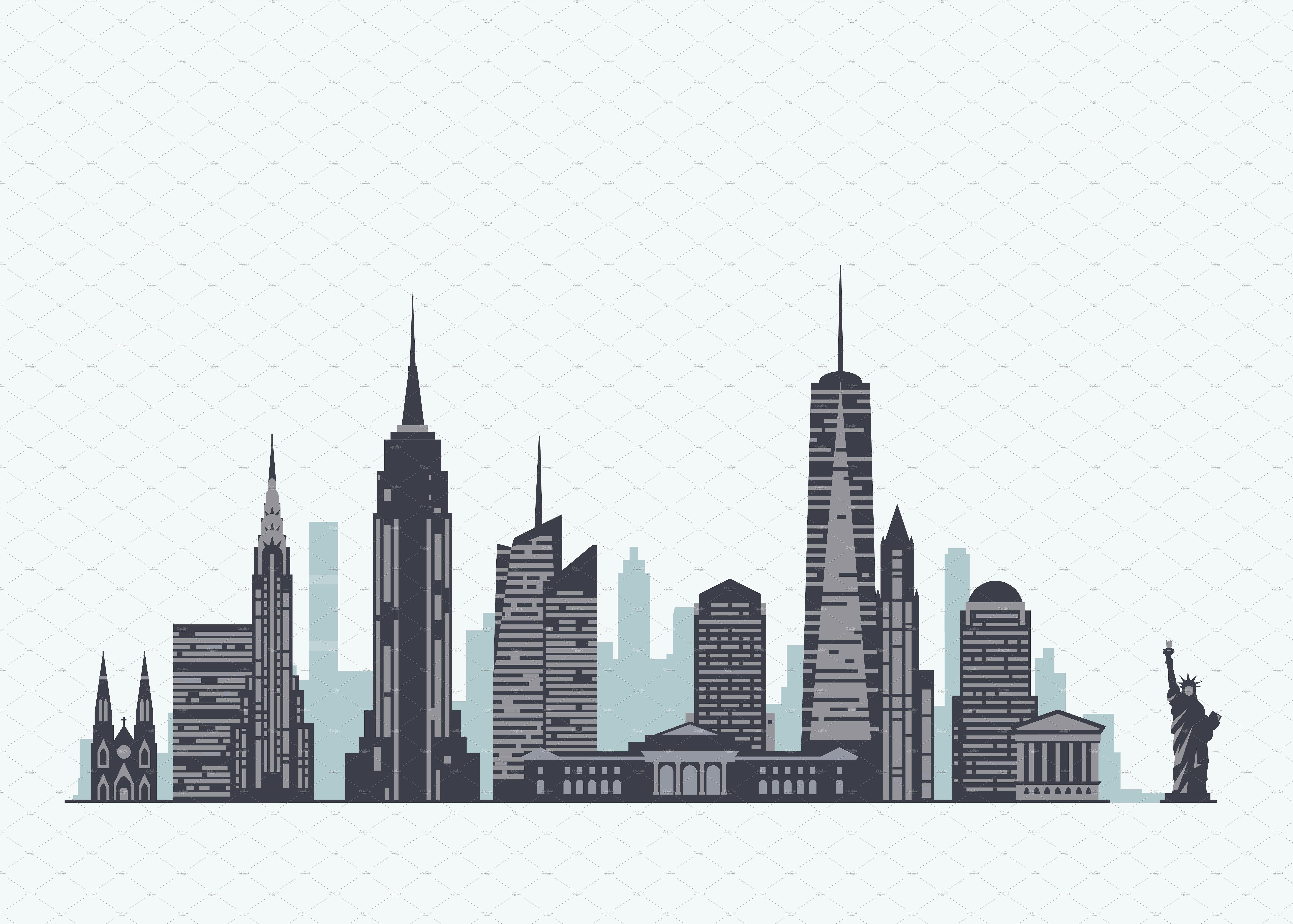 New York skyline | New york illustration, New york skyline ...