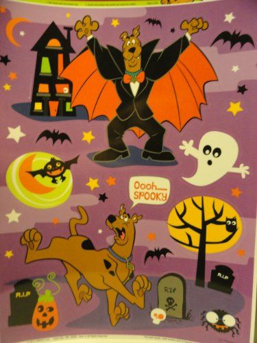 Halloween Scooby-Doo Window Clings Impact, Inc   wwwamazon - halloween window clings