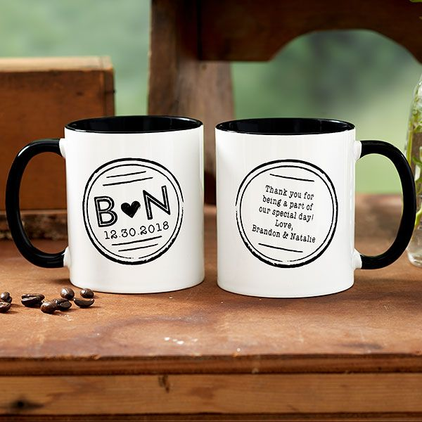 Wedding Favor Custom Coffee Mugs - 18547 | wedding | Pinterest ...