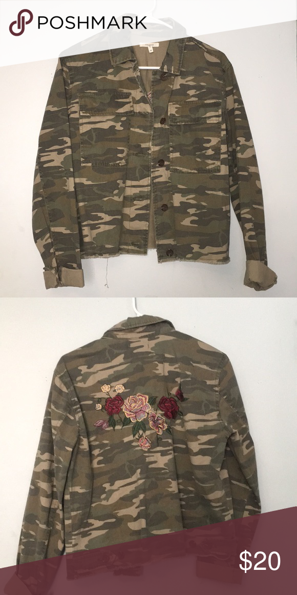 20d29f6b4d42d Embroidered Maurices Camo Jacket. Only worn twice. Flower embroidery on  back, with a camo design. Maurices Jackets & Coats Jean Jackets