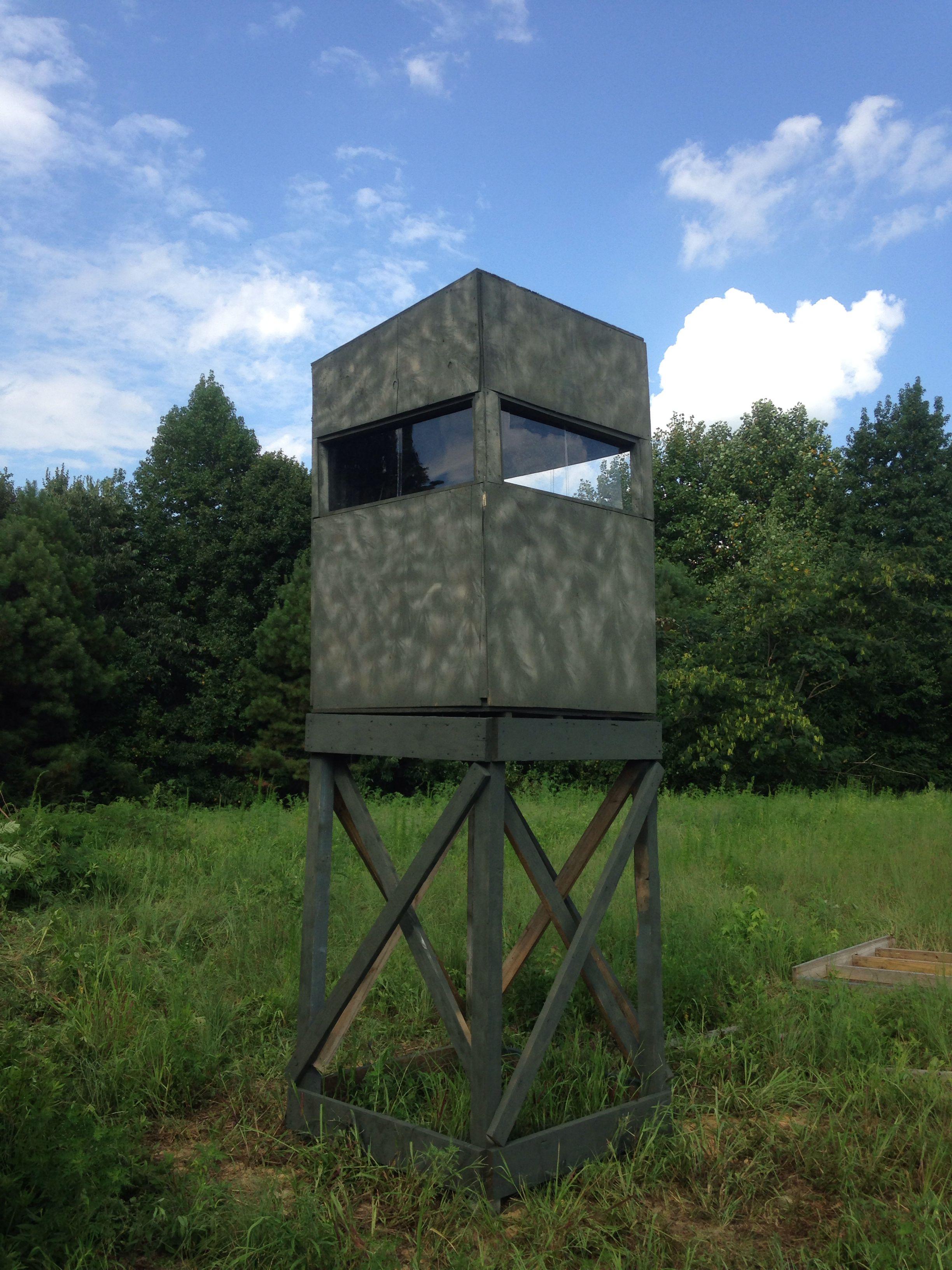 4x4 Shooting House With Sliding Plexiglass Windows Camouflaged