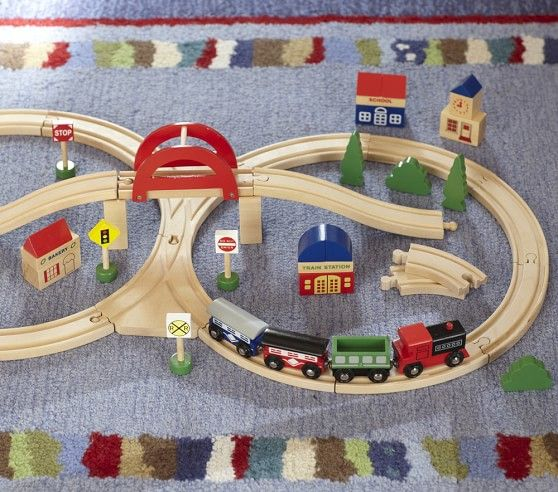 Wooden Train Set Wooden Train Set Wooden Train Pottery