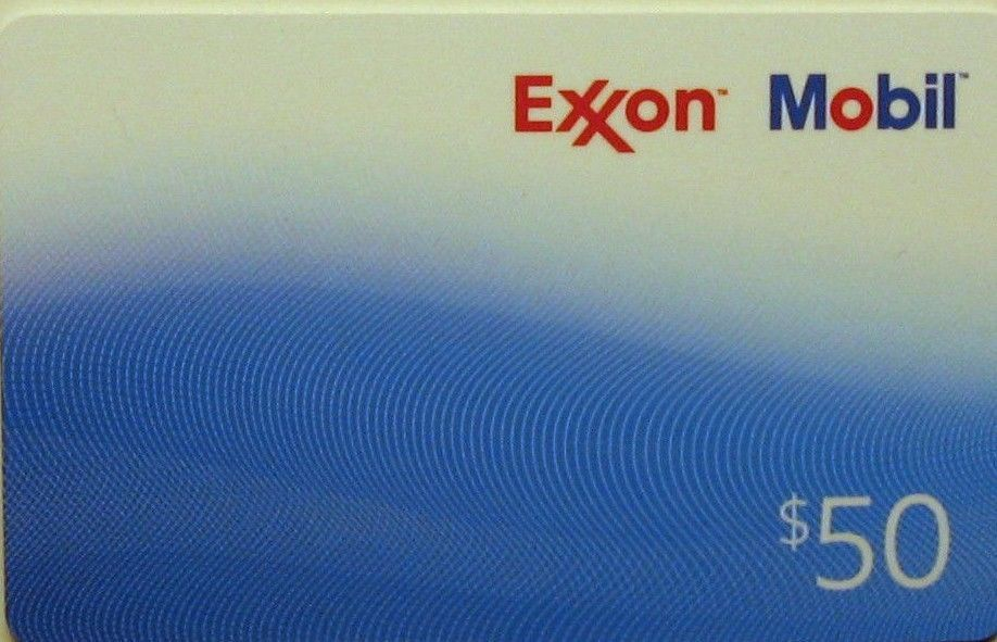 Coupons giftcards 50 exxon mobile gas gift card