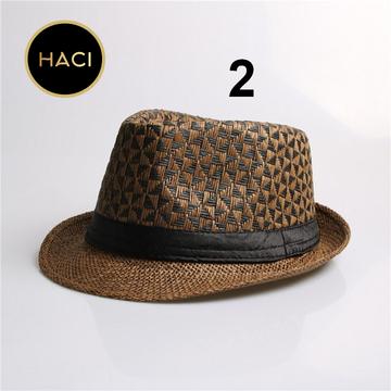 Haci Panama Straw Trilby Gangster Hat Fashion Womens Fashion Accessories Fashion Boots