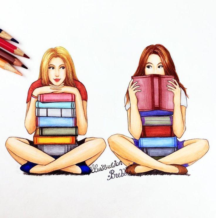 B F F Estudando Amigos Desenho Desenhos De Bff Desenhos