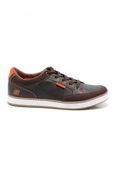 Skechers Callum Sneakers Dark Brown Rp 399 000 Sepatu Pria