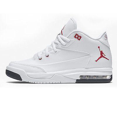 Nike Jordan Flight Origin 3 Gs Big Kids 820246-160 White Red Shoes Youth Sz