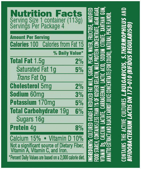 Activia Light Nutrition Americanwarmoms Org Yogurt Label