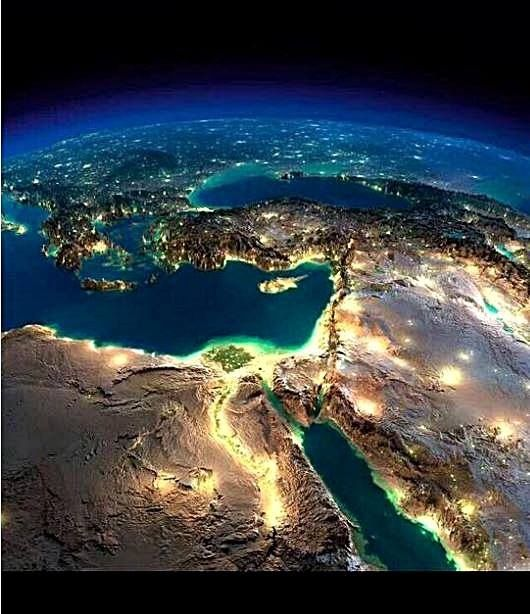 Cyprus By Night Satellite Image Cyprus Related In 2019 Earth