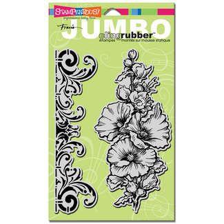 Hollyhock jumbo stamp - $11.99 - want!