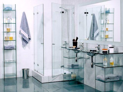 Muebles de cristal para banos dise o interiores - Cristales para banos ...
