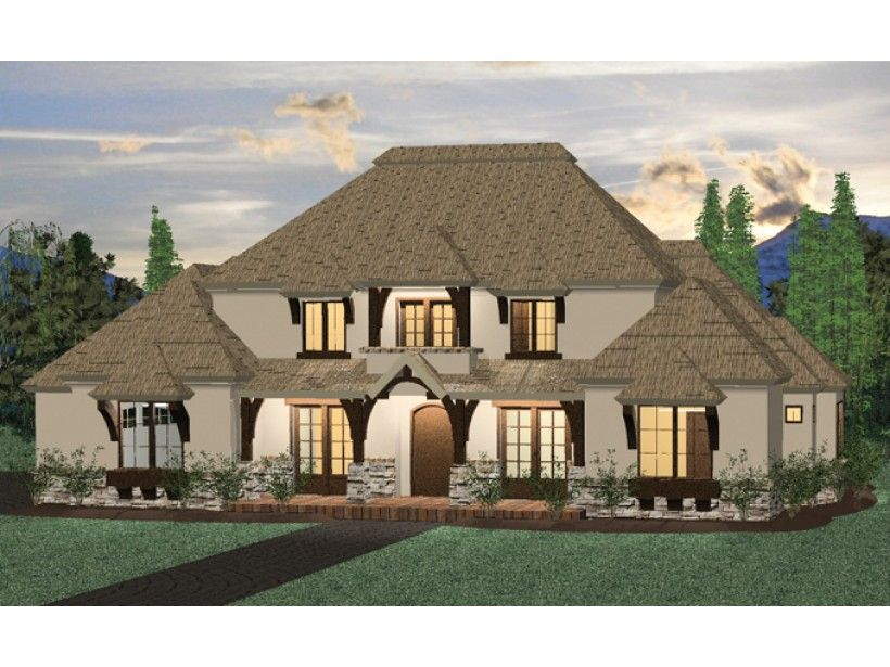 Eplans Farmhouse House Plan - Four Bedroom Farmhouse - 2500 Square Feet and 4 Bedrooms from Eplans - House Plan Code HWEPL68471 - Same plan as last plan pinned with farmhouse exterior