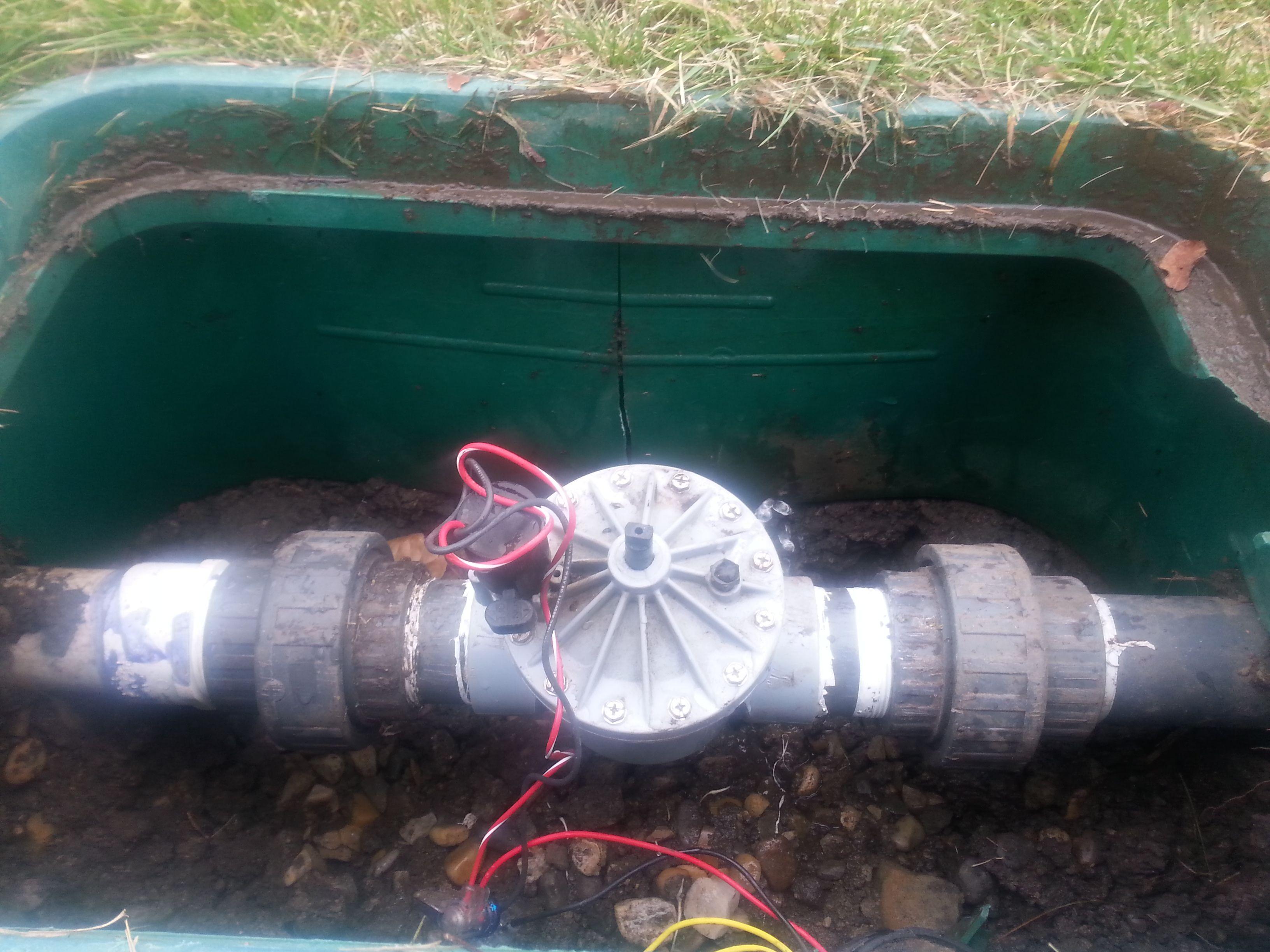 how to replace sprinkler valve box