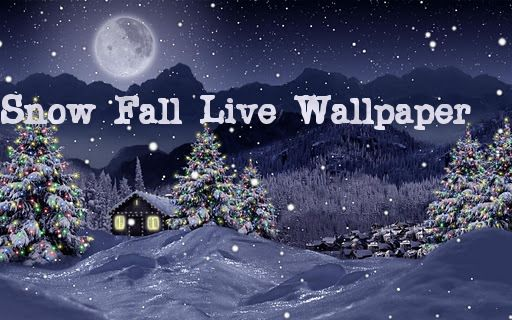 Snowfall Is A Beautiful Live Wallpaper Featuring Gentle Snow Flakes Falling Ove Christmas Live Wallpaper Christmas Landscape Free Christmas Wallpaper Downloads Awesome free live christmas wallpaper