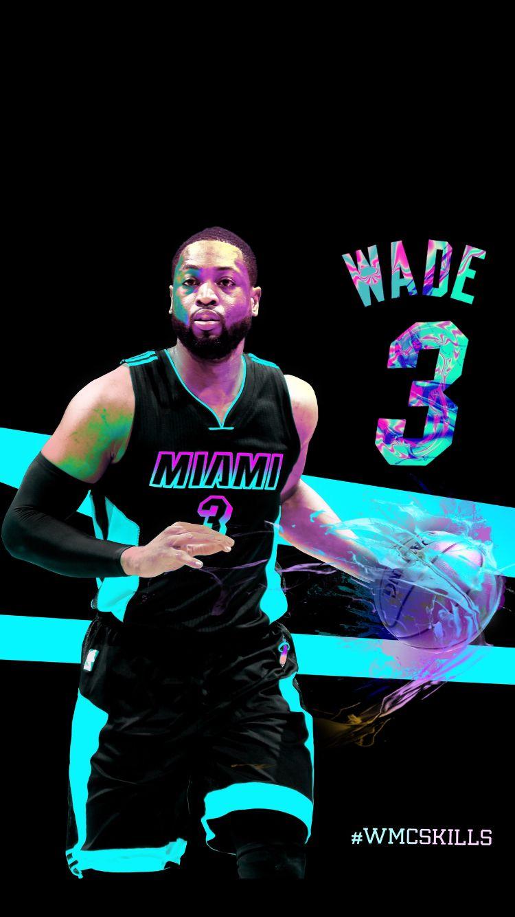 Dwyane Wade Miami Heat Wmcskills Photoshop Nba Basketball Art Dwyane Wade Miami Heat Basketball