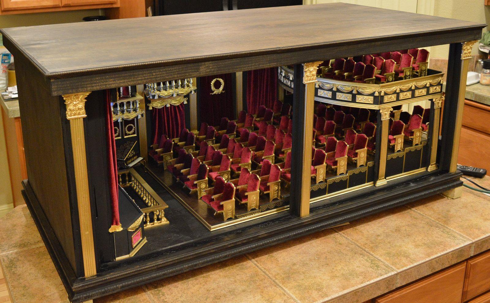 1 12 Scale Movie Palace ミニチュア ドールハウス ドールハウス