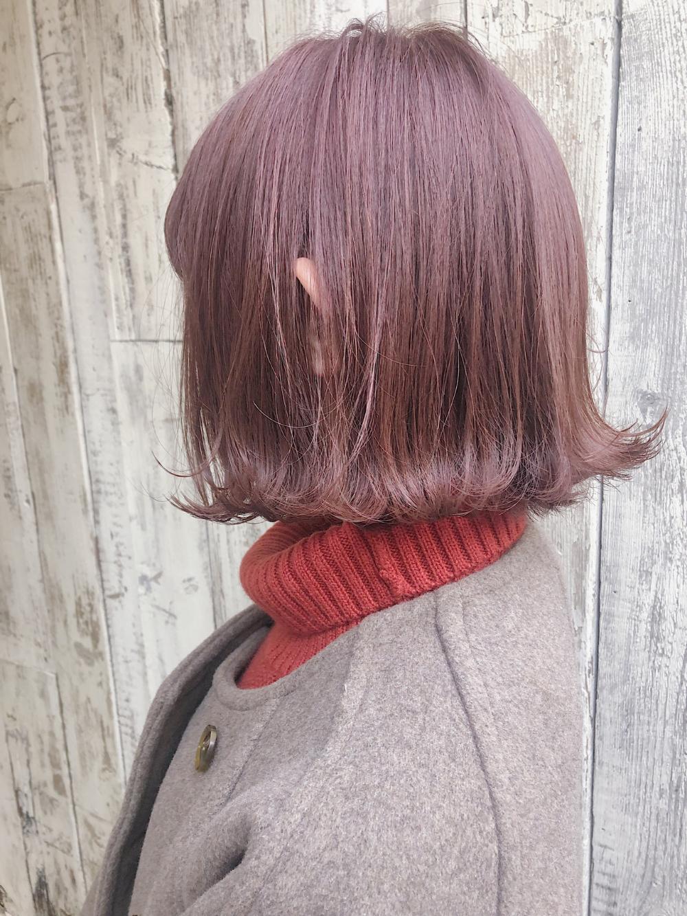 今ドキのベージュカラーは美味しそう 髪色褒められるカラーレシピ ピンクベージュ ヘアカラー ピンクベージュ 髪 色