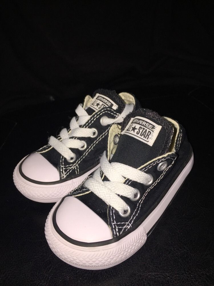 best loved 0cf37 09032 converse all star chuck taylors Black low toddler size 5   Clothing, Shoes    Accessories
