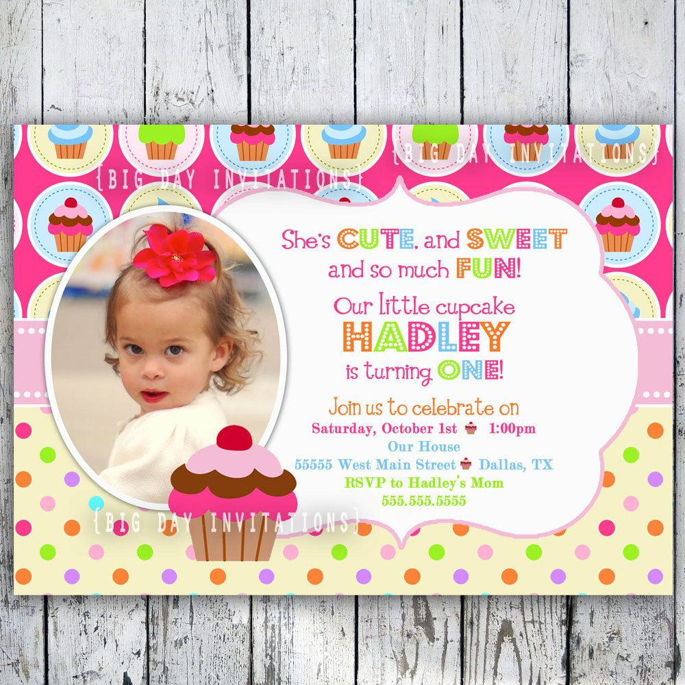 Cupcake birthday party invitations bright by bigdayinvitations cupcake birthday party invitations bright by bigdayinvitations 1149 usd via etsy filmwisefo Gallery