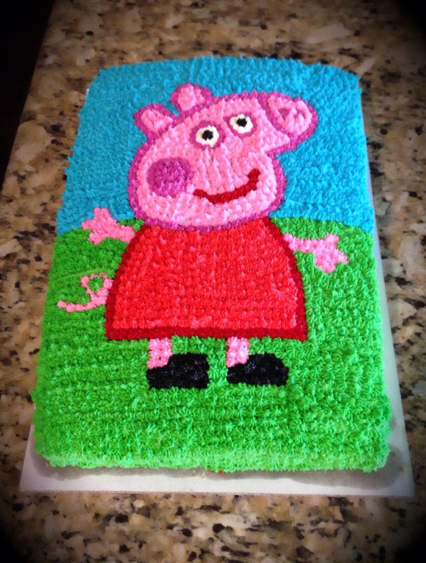 Peppa Pig Cake Simple Star Cake Decorating Tip Used To Create