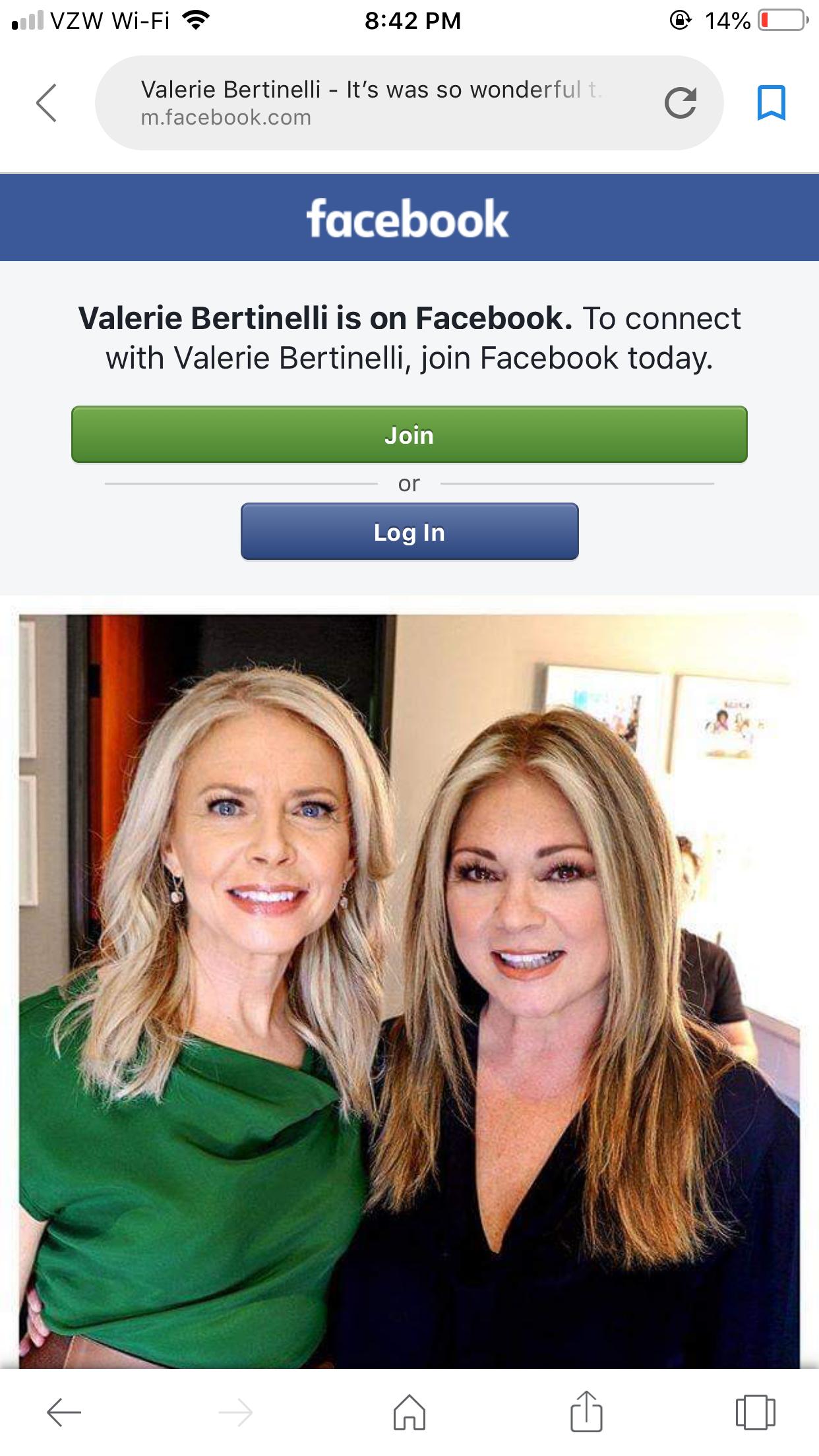 Highlites By Tricia Bellettiere Valerie Bertinelli Join Facebook Valerie