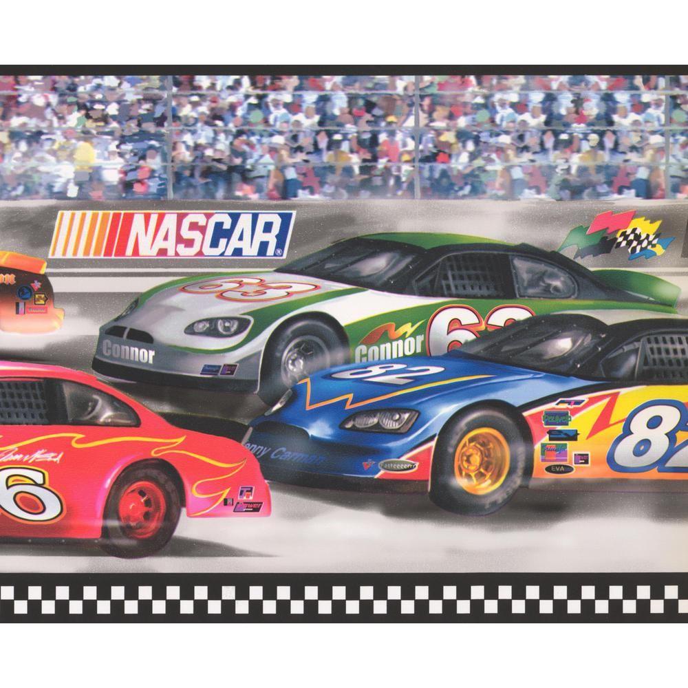 York Wallcoverings Nascar Race Track Colorful Prepasted Wallpaper Border Fz4616bd The Home Depot Nascar Race Tracks Nascar Racing Prepasted Wallpaper
