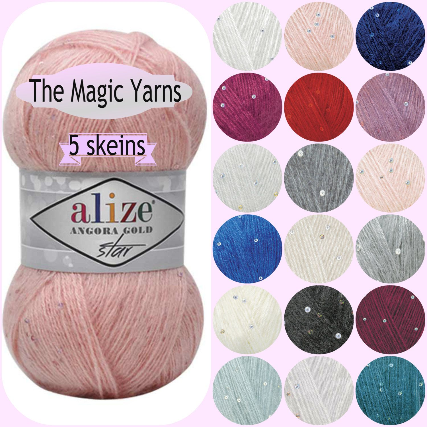 Be Sweet Extra Fine 100/% Mohair Laceweight Pastels Single Skein