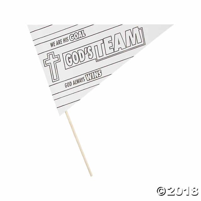 Show your support for God's team! These Color Your Own