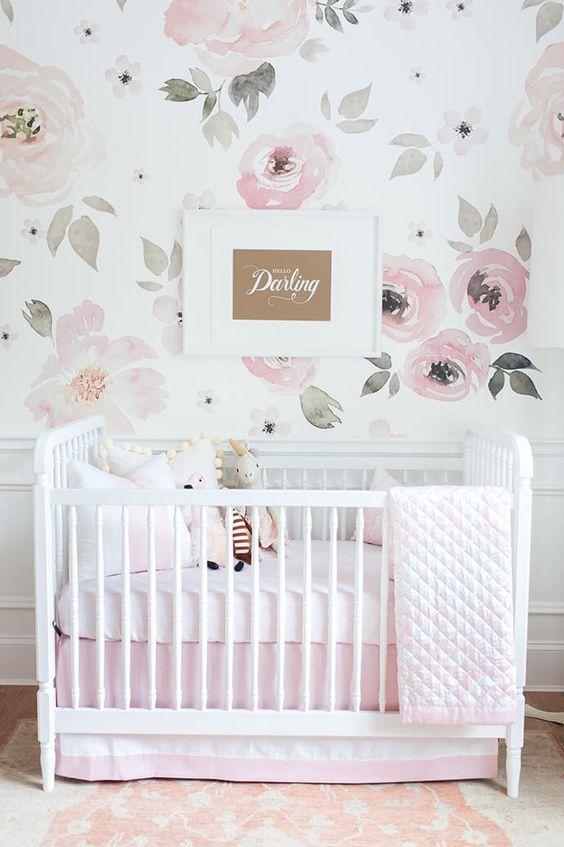 Se lleva el papel pintado de flores grandes habitaciones for Decoracion habitacion bebe papel pintado