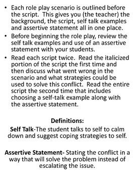 Role Play Scripts: Conflict Resolution & Anger Management   Group