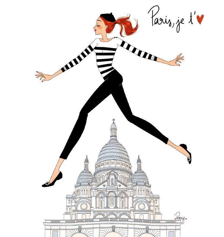 Pingl par nini poppins sur 05 art design illustration - Dessin parisienne ...
